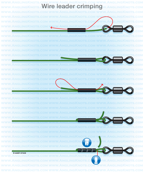 Predator fishing knots wire leader crimping for How to make fishing leaders